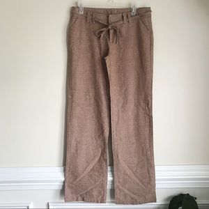 ZU Linen soft tan pants Sz M